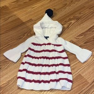 BabyGap hooded sweater dress 3-6 months